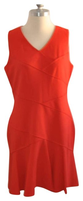 Item - Red Mid-length Work/Office Dress Size 12 (L)