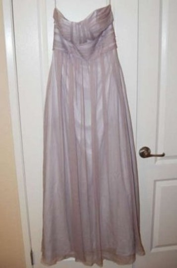 Love Lane Smoke Chiffon Long Strapless Pockets Feminine Bridesmaid/Mob Dress Size 8 (M)