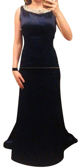 Item - Navy Blue Couture Gown Long Formal Dress Size 0 (XS)