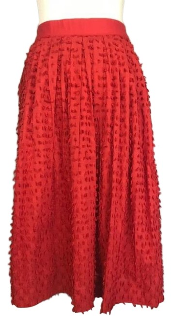 Item - Persimmon Red W W/ Fringe Detail 0 Skirt Size 0 (XS, 25)