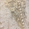 Justin Alexander Ivory Lace Alencon Fit and Flare Beaded Open Back Vintage Wedding Dress Size 4 (S) Justin Alexander Ivory Lace Alencon Fit and Flare Beaded Open Back Vintage Wedding Dress Size 4 (S) Image 7
