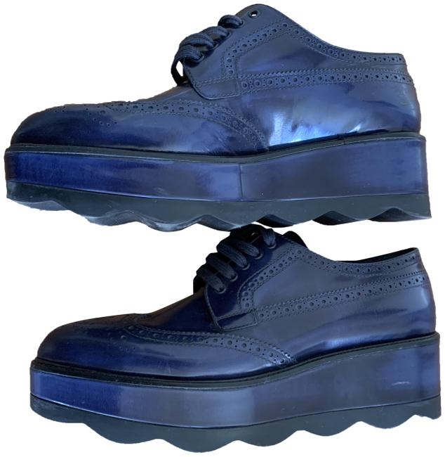 Item - Blue Leather With Platforms Size EU 41 (Approx. US 11) Regular (M, B)