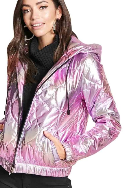 Item - Pink Iridescent Puffer Quilted Shiny Jacket Purple/Pink S New. Coat Size 4 (S)