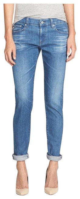 Item - Blue Light Wash Nikki Crop Relaxed Fit Jeans Size 2 (XS, 26)