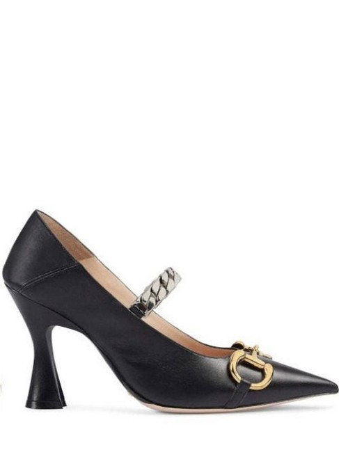 Gucci Black Horsebit Gr With Pumps Size EU 39.5 (Approx. US 9.5) Regular (M, B) Gucci Black Horsebit Gr With Pumps Size EU 39.5 (Approx. US 9.5) Regular (M, B) Image 1