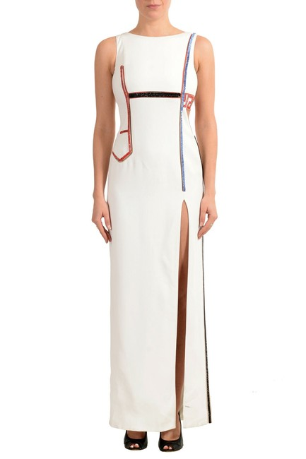 Item - White Women's Embroidered Evening Long Casual Maxi Dress Size 00 (XXS)