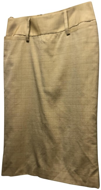 Item - Beige Dolce & Gabbana Pencil Eu40 Silk Fully Lined Skirt Size OS (one size)