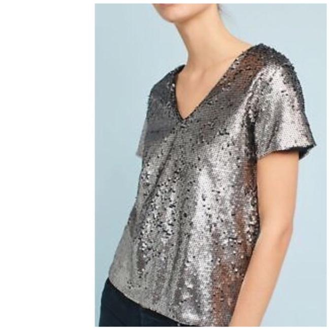 Item - Silver Virginia Vanessa Sequin Blouse Size 4 (S)