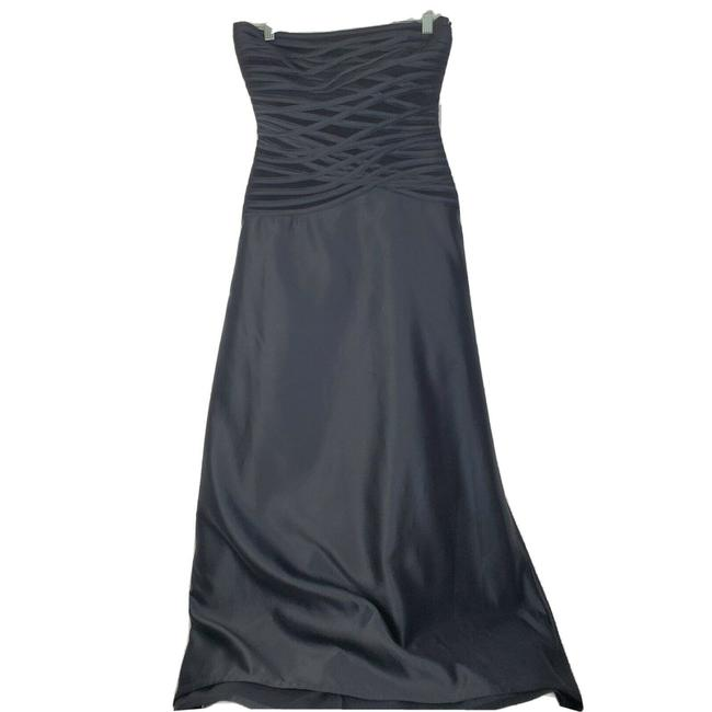 Item - Black Strapless Gown Long Formal Dress Size Petite 8 (M)