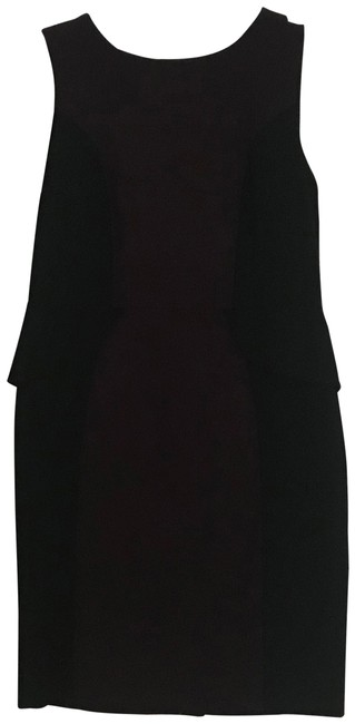 Item - Wine and Black Perplum Mid-length Work/Office Dress Size 12 (L)