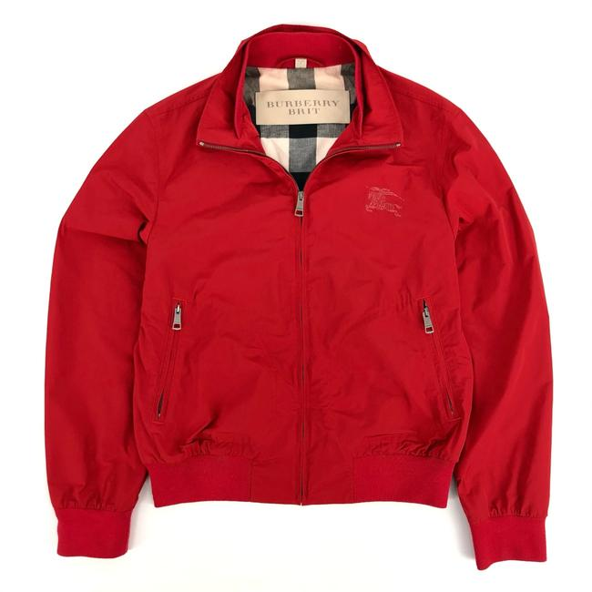 Item - Red W Mens Polyester Bomber Nova Check & Logo Jacket Size 8 (M)