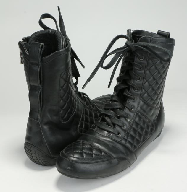 Item - Black Quilted High-top Sneakers Shoes