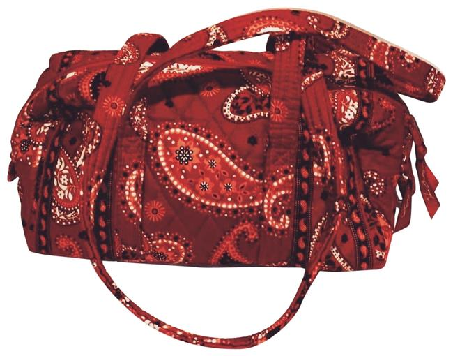 Item - Duffle Mini Red Paisley Canvas Weekend/Travel Bag
