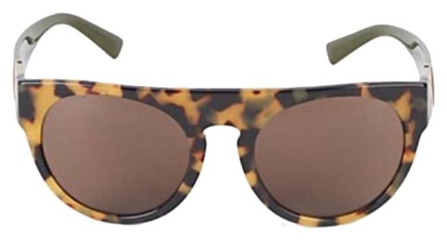 Item - Havana: Tortoise with Green Frames and An Orange/Coral Accent 55mm Round Sunglasses