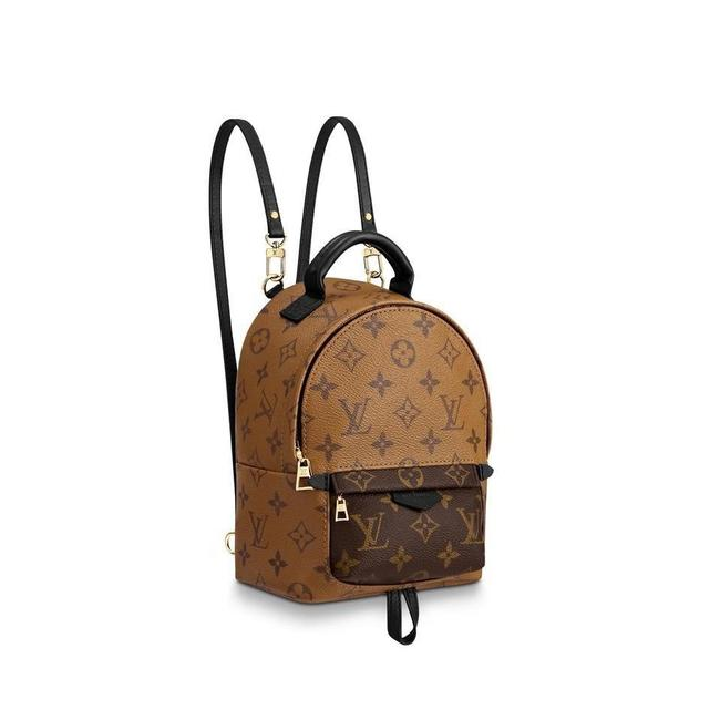 Item - Palm Spring Mini M44872 with Receipt Multicolor Monogram Canvas and Monogram Reverse Canvas Backpack