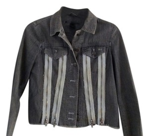 Marc Jacobs Jean Zippered grey/blue Womens Jean Jacket
