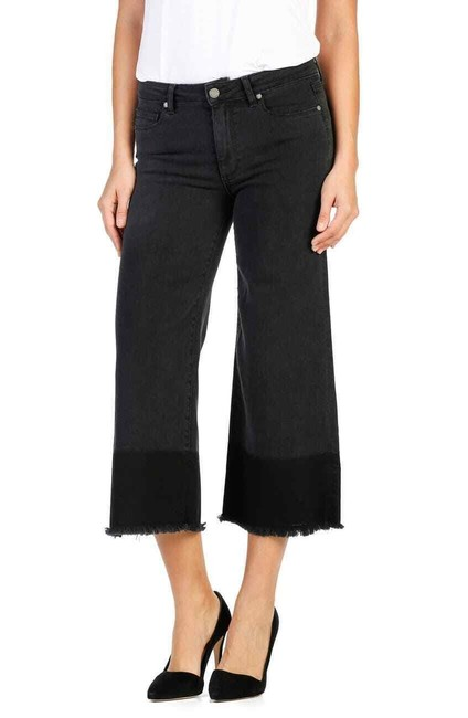 Item - Black Dark Rinse High Waisted Trouser/Wide Leg Jeans Size 26 (2, XS)