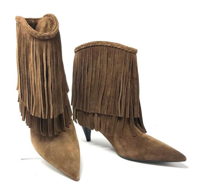 Item - Brown Fringe Ankle Boots/Booties Size EU 39 (Approx. US 9) Narrow (Aa, N)