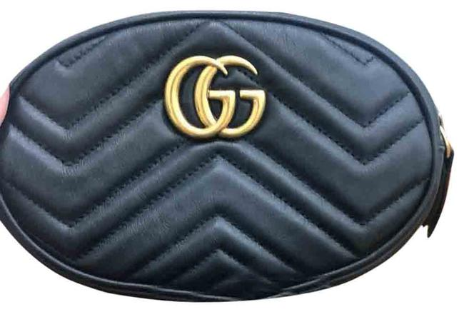 Item - Belt Bag Marmont Gg Waist Black Leather Satchel