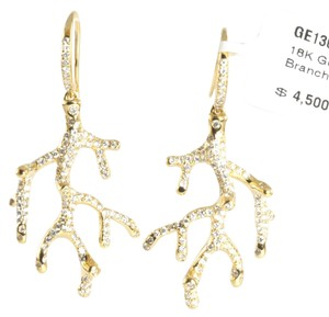 Ippolita IPPOLITA 18K YELLOW GOLD STARDUST PAVE DIAMOND BRANCH EARRINGS