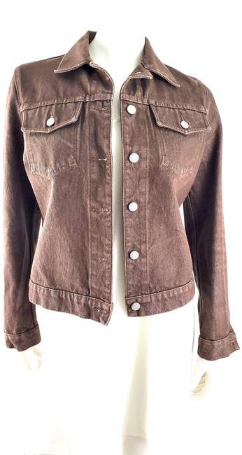Item - Brown Classic Button Up Jacket Size 4 (S)