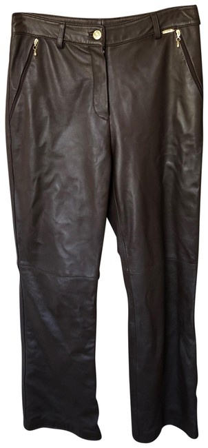Item - Brown Zip Pocket High Rise Leather Pants Size 6 (S, 28)