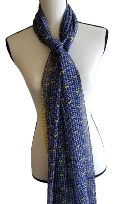 Item - Yellow Blue Sheer Anchor Scarf/Wrap
