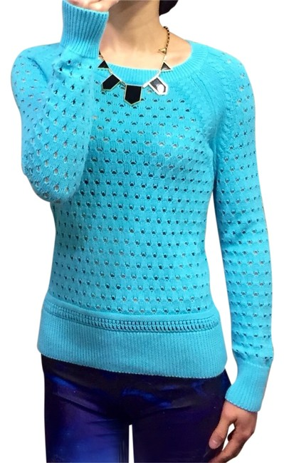 Item - Open Knit Turquoise Sweater