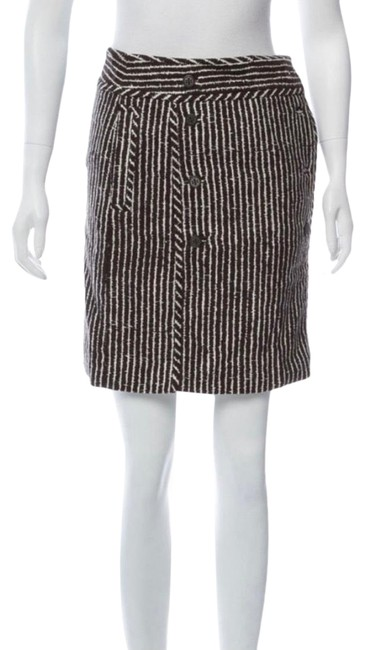 Item - Brown/White And Ivory Mini Skirt Size 2 (XS, 26)