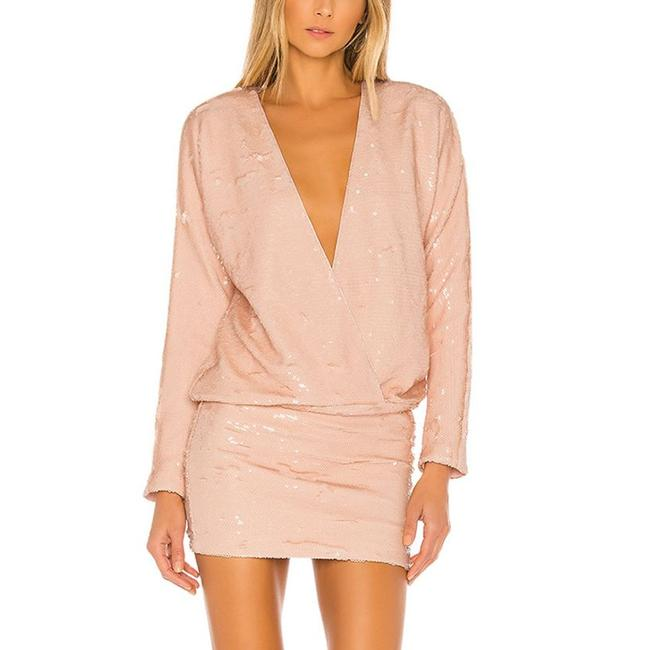 Item - Pink L The Clementine In Nude Womens Small Msrp 298 Short Night Out Dress Size 4 (S)
