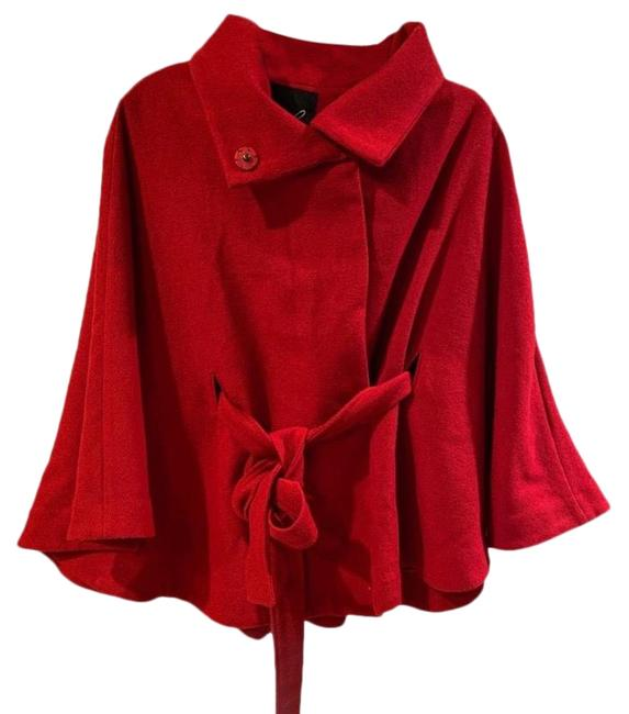 Item - Red Swing Belted Poncho/Cape Size 4 (S)