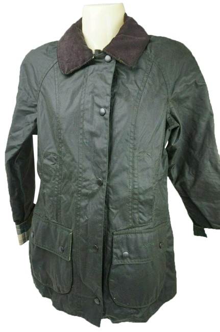 Item - Green Beadnell Waxed Cotton Jacket Size 0 (XS)