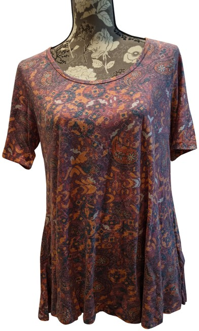 Item - Red and Orange Floral Perfect T Tee Shirt Size 6 (S)