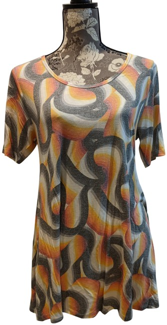 Item - Orange and Gray Perfect T Tee Shirt Size 6 (S)