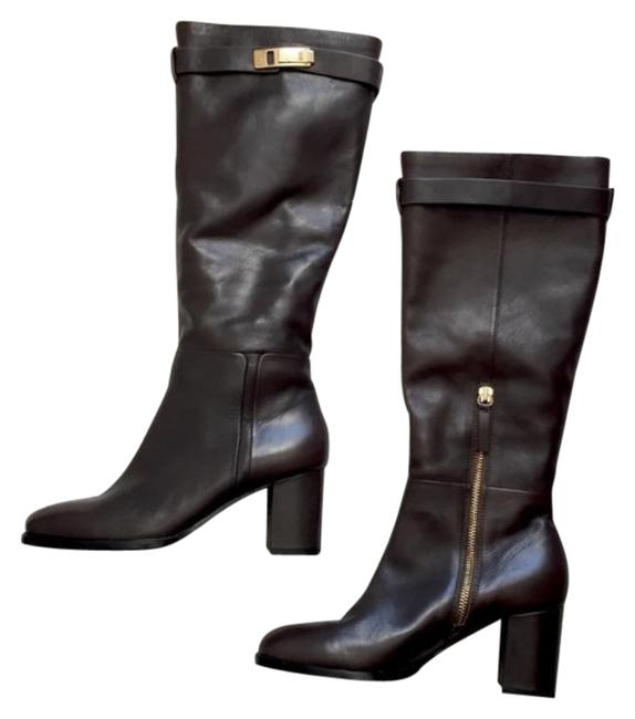 Item - Brown Ava Buckle Leather Boots/Booties Size US 7 Regular (M, B)