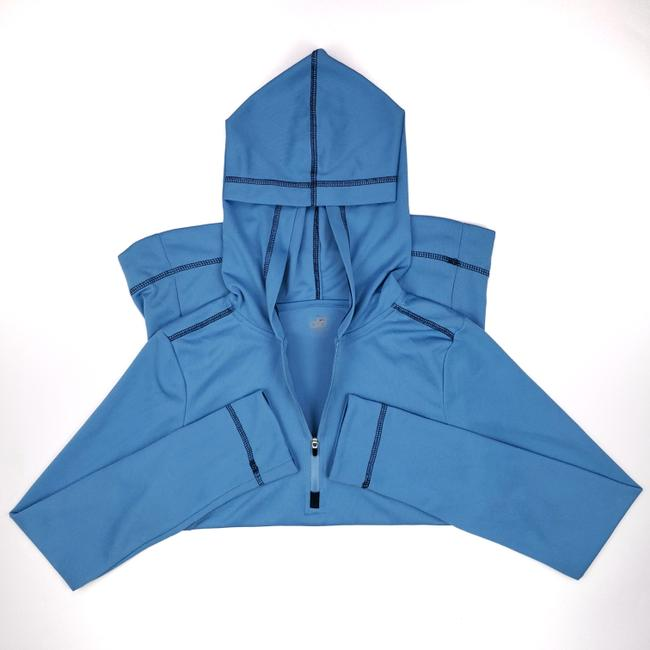 Item - Blue Yoga Small Hoodie Womens 1/4 Zip Coolfit Cool Fit Hooded Ligh Shirt