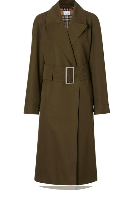Item - Green Military Cotton Gabardine Slit Belted 2/36 Coat Size 2 (XS)