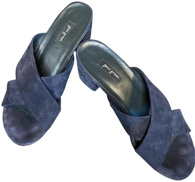 Item - Blue Rialto Suede Sandal Mules/Slides Size US 8 Regular (M, B)