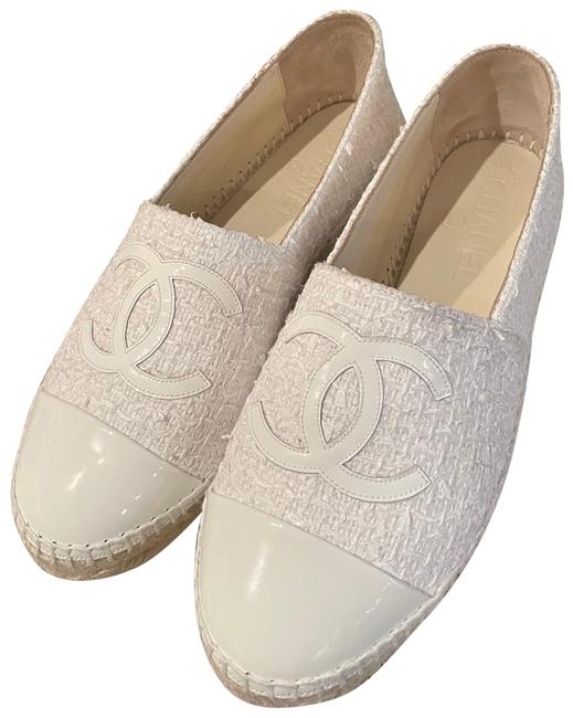 Item - White Tweed Espadrille Flats Size EU 37 (Approx. US 7) Regular (M, B)