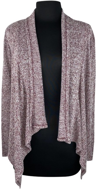 Item - Multicolor XS Open Front Asymmetric Sweater Casual Cardigan Size 0 (XS)