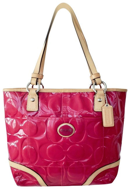 Item - Peyton Embossed Signature C Pink Patent Leather Shoulder Bag