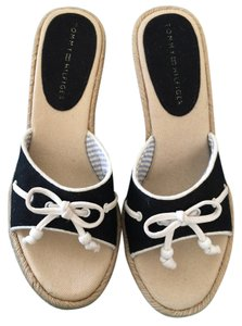 Tommy Hilfiger Navy Blue with White Trim Sandals