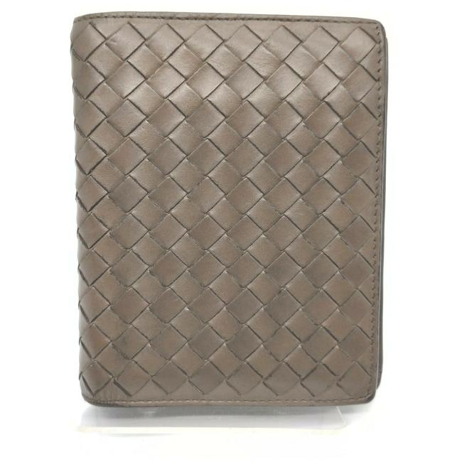 Item - Grey-brown Intrecciato Woven Leather Bifold 861755 Wallet