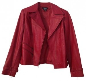 Willi Smith red Leather Jacket