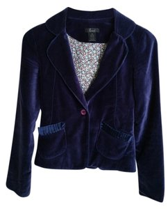 Frenchi Velvet Evening Wear Royal Blue Blazer