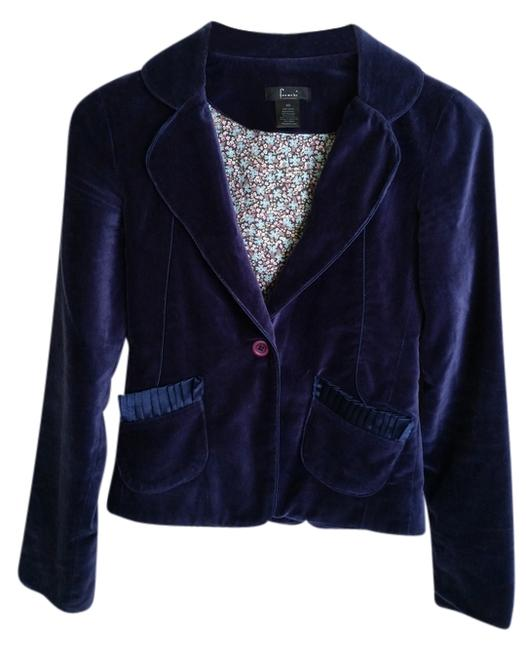 Frenchi Blue Velvet Evening Wear Jacket Royal Blue Blazer