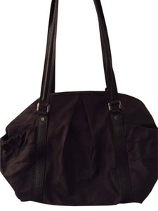Burberry Leather Nylon Black Diaper Bag