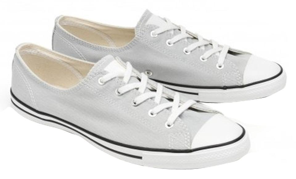 99ccd109d416 Converse Grey Chuck Taylor All Star Fancy Ox Low Top Canvas Oyster Sneakers