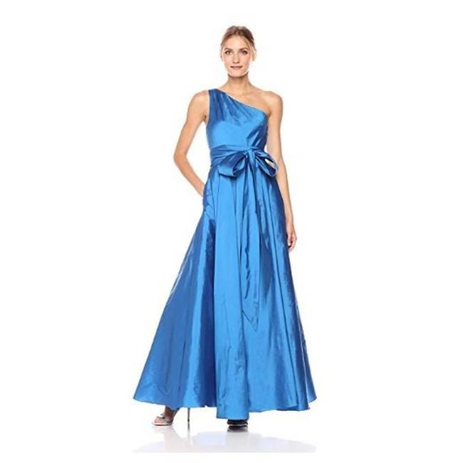 Item - Blue Infusion One Shoulder Taffeta Gown Long Formal Dress Size 4 (S)