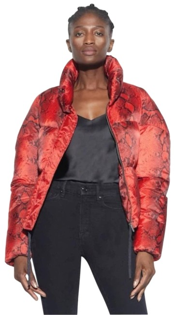 Item - Red Jamie Nylon Puffer In Rouge Python Coat Size 2 (XS)